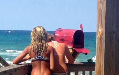 mailbox girls writing
