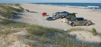 Camping at Portsmouth Island