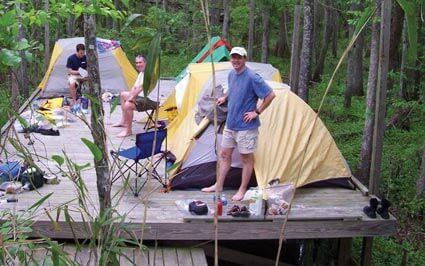 Camping at Roanoke River Platforms