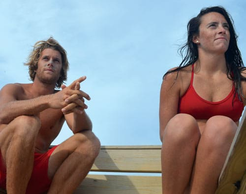 OBX lifeguards Nathan Lowdermilk and Taylor Simmons