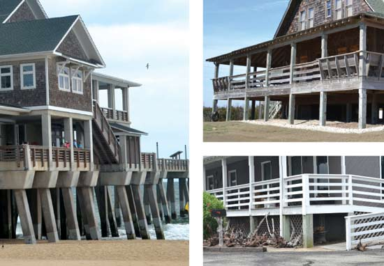 outer banks pilings