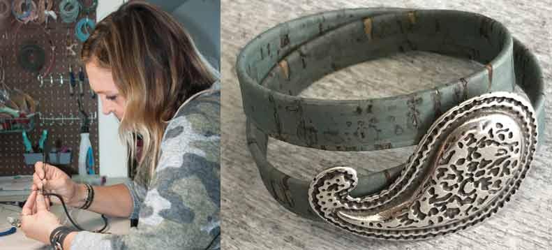Dawn Vinson cork jewelry
